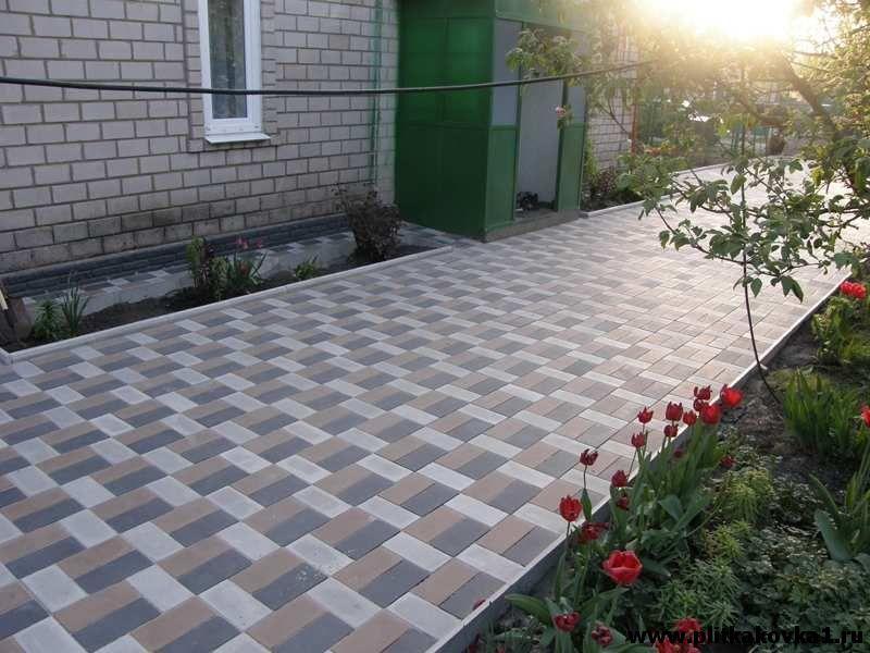 Тротуарная плитка своими руками как во дворе