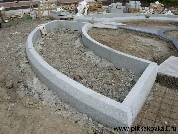 Бордюры из бетона видео