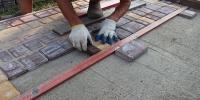 Технология укладки тротуарной плитки очень проста