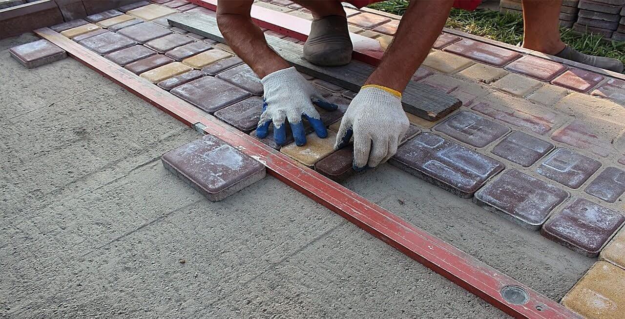 Дорожка на даче своими руками из тротуарной плитки ФОТО