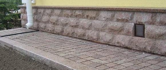 тротуарная плитка для отмостки вокруг дома